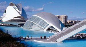 La cité des arts et de la science à Valence.