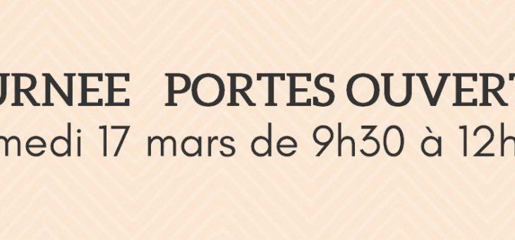 JOURNÉE PORTES OUVERTES – SAMEDI 17 MARS 2018