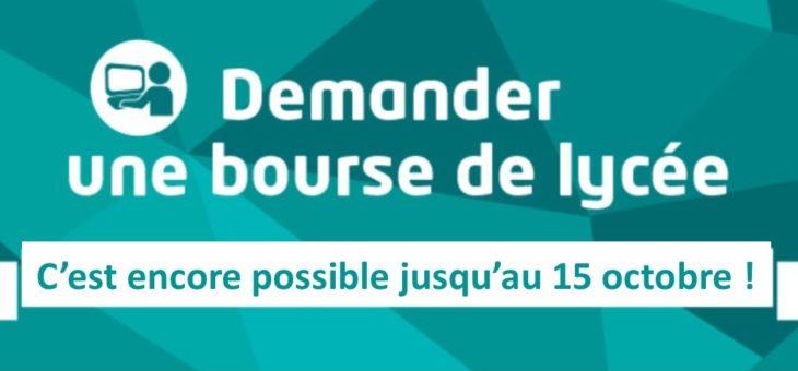 PROLONGATION DE LA CAMPAGNE DES BOURSES DU LYCEE