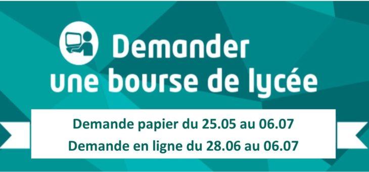 CAMPAGNE DE BOURSES DU LYCÉE